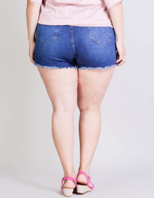 Shorts Jeans Plus Size Puidos - Palank