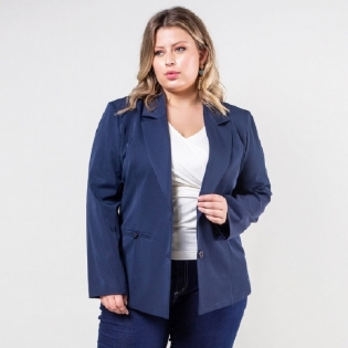 Blazer Plus Size Two Way Basic