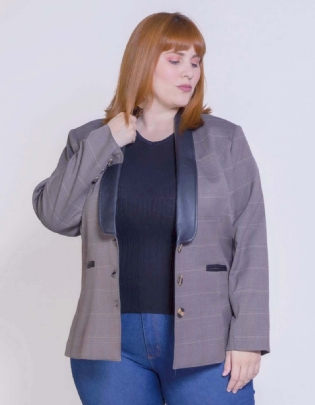 Blazer Plus Size Oxford - Palank