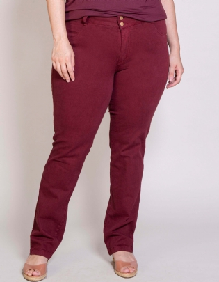 Calça Plus Size Cigarrete Color - Palank