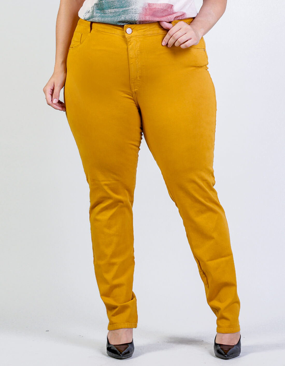 Calça Sarja Plus Size Color Pipa - Palank